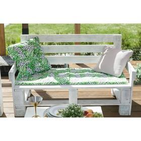 Подушка на трехместную скамейку «Этель» Геометрия, 45×150 см, репс с пропиткой ВМГО, 100% хлопо Ош