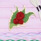 Вышивка крестиком и лентами на дереве «Розы». Набор для творчества