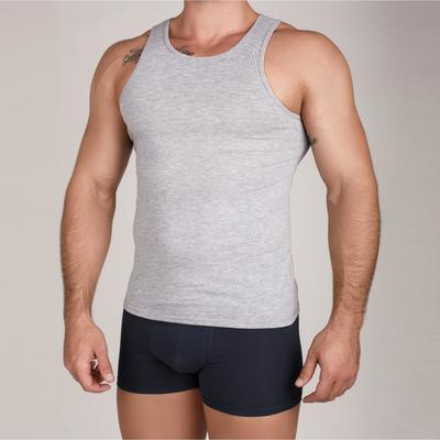 Майка мужская, цвет серый меланж, размер 52