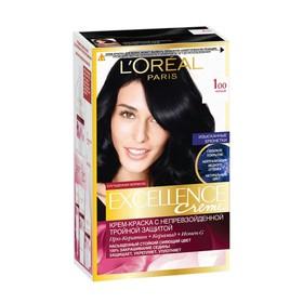 Крем-краска для волос L'Oreal Excellence Creme, тон 100, чёрный