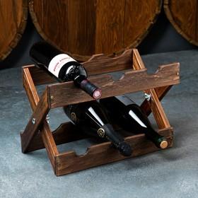 Стеллаж винный 'Рустик', 40 х 30 см, массив сосны Ош