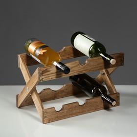 Стеллаж винный 'Антик', 40 х 30 х 30 см, массива ясеня Ош