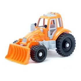 Трактор с грейдером, цвета МИКС