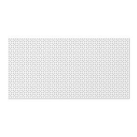 Панель декоративная перфорированная, без рамки, Дамаско, белый, 1112х512 мм Ош