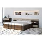 Спальня «ЛЕСИ Уют-1», кровать 160 см, 2 тумбы, комод, цвет кантербери-сонома