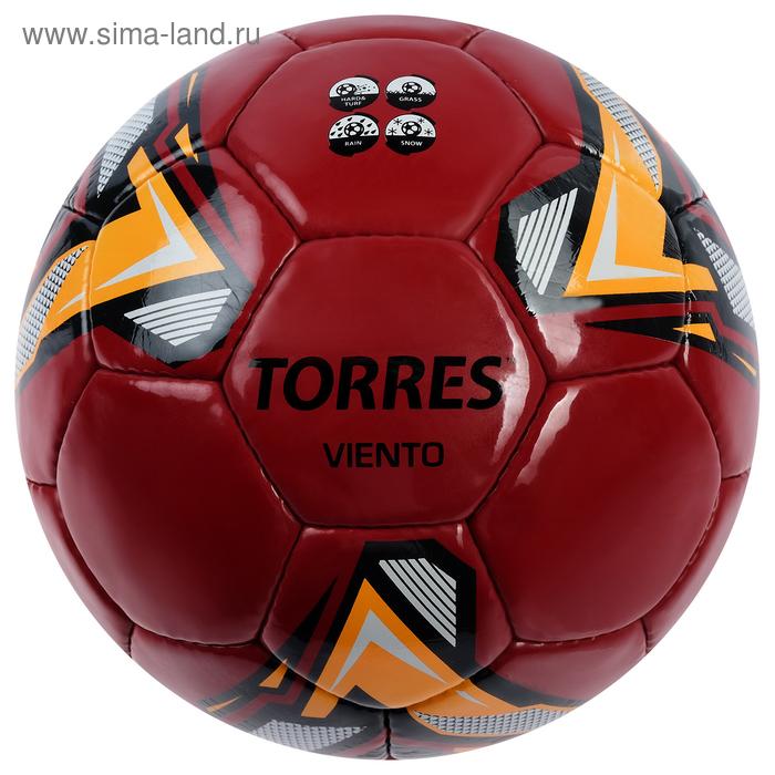 Мяч футбольный TORRES Viento Red, F31995, размер 5, 32 панели, PU, 4 подслоя, ручная сшивка