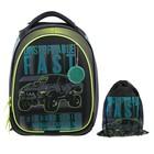 Рюкзак каркасный, Luris «Джерри 3», 37 x 28 x 19 см, наполнение: мешок для обуви, «Авто»