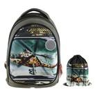 Рюкзак каркасный, Luris «Пони», 38 x 28 x 18 см, наполнение: мешок для обуви, «Вертолёт»