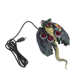 Геймпад DVTech JS66 Horror Dragon, проводной, вибрация, для PC, USB Ош