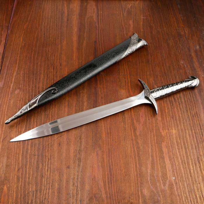 Сувенирный меч Жало, ножны с металлической окантовкой, чёрные, 60 см