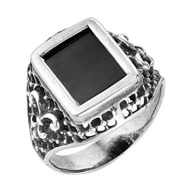 Перстень мужской посеребрение 'Графская лилия', 19 размер Ош