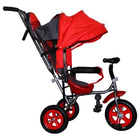 Велосипед трёхколёсный Лучик Малют 1, надувные колёса 10'/8', цвет красный Ош
