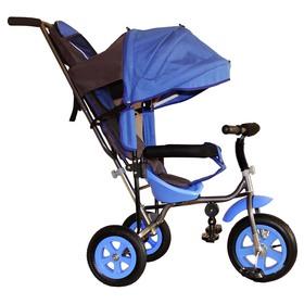 Велосипед трёхколёсный Лучик Малют 1, надувные колёса 10'/8', цвет синий Ош