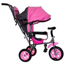 Велосипед трёхколёсный Лучик Малют 1, надувные колёса 10'/8', цвет розовый Ош