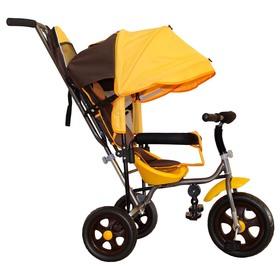 Велосипед трехколесный Лучик Малют 2, колеса EVA  10'/8', цвет коричнево-желтый Ош