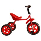 """Велосипед трехколесный Лучик Малют 4, колеса EVA  10""""/8"""", цвет красный"""