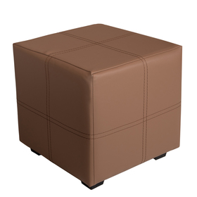 Пуф квадратный Марио 400х400х380 Коричневый Ош