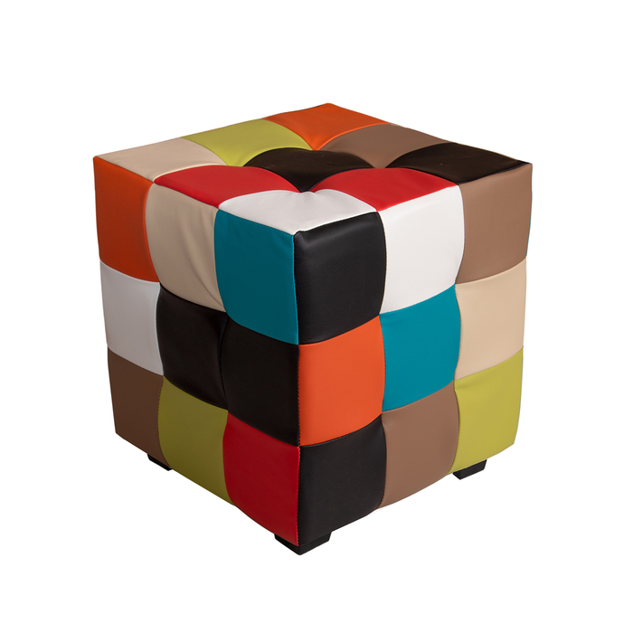 Пуф Кубик-рубик 400х400х420 Цвет обивки кож.зам МИКС