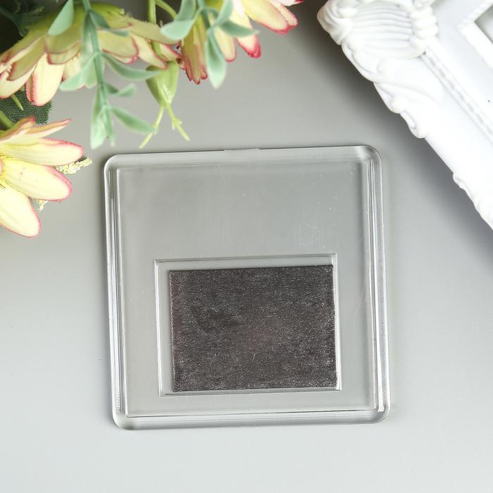 Заготовка акрилового магнита 6,3х6,3 cм прозрачный набор 2 деталипакет