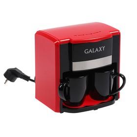 Кофеварка Galaxy GL 0708, капельная, 750 Вт, 0.3 л, красная Ош
