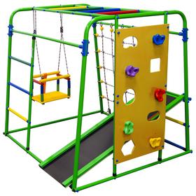 Детский спортивный комплекс Start baby 2, 1200 × 1330 × 1230 мм, цвет салатовый/радуга