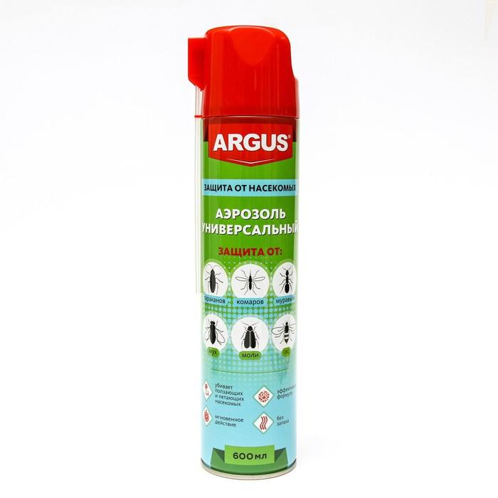 """Аэрозоль от всех видов насекомых """"Argus MAX"""" , дихлофос, без запаха, 600 мл"""