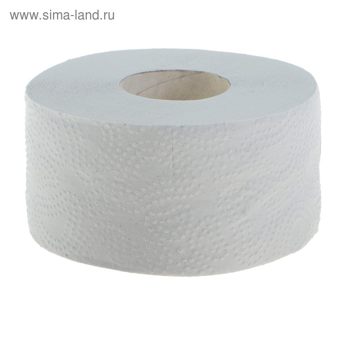 Туалетная бумага Helper Джамбо, белая, с перфорацией и тиснением на втулке 72 мм, 150 м.
