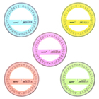 Транспортир 360°, диаметр 10 см, прозрачный, цветной, с фасками