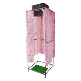 Душ дачный, 75 × 75 × 250 см, тент, бак пластиковый, 55 л, с ЭВН Ош