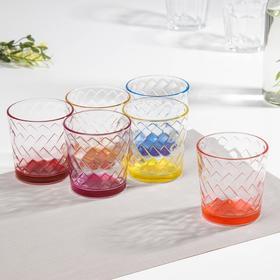 "Набор стаканов 250 мл ""Джем"", 6 шт, цвет, форма МИКС"
