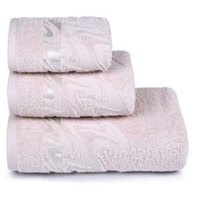 Полотенце махровое «Brilliance» 70х130 см, цвет светло-розовый, 390 гр/м2