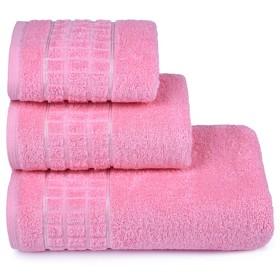 Полотенце махровое «Megapolis» 40х60 см, цвет розовый, 415 гр/м2
