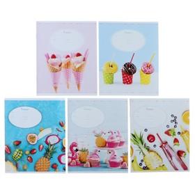 Тетрадь 12 листов линейка «Стиль. Bright & Sweet», обложка мелованный картон, ВД-лак, МИКС