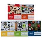 Тетрадь18 листов клетка «Спорт. Active life», обложка мелованный картон, ВД-лак, МИКС