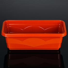 Кашпо 40 см 'Квадро' с дренажной вставкой, цвет терракот Ош