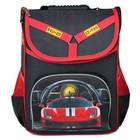Ранец Стандарт Hatber Balance, 35 х 27 х 14 см, для мальчика, «Гонки», чёрный/красный