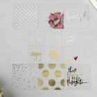 Прозрачные карточки для планера с фольгированием «Hello Beautiful»  Heidi Swapp