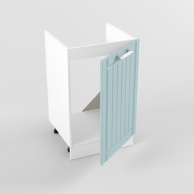 Шкаф под мойку с дверью РоялВуд, 473х500х850, Белый/Голубой прованс Ош