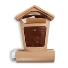 Ящик почтовый «Элит», вертикальный, с замком, бежевый с коричневым