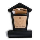 Ящик почтовый «Элит», вертикальный, с замком, чёрный с бежевым