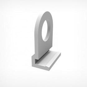 Петля для подвешивания пластикового профиля CLICKER HOOK, цвет белый Ош