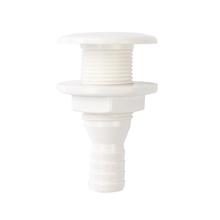 Патрубок водосброса SeaFlo SFDS1-0750-01, под патрубок 19мм, белый