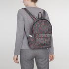Рюкзак молодёжный, отдел на молнии, 3 наружных кармана, цвет чёрный/белый