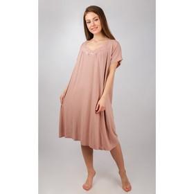 Сорочка женская, цвет бежевый, размер 58