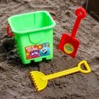 Набор для игры в песке: ведро, совок, грабли, СМЕШАРИКИ цвет МИКС, 530 мл