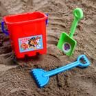 Набор для игры в песке: ведро, совок, грабли, PAW PATROL Цвет МИКС, 530 мл