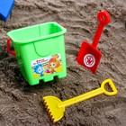 Набор для игры в песке: ведро-крепость, лопата, грабли,ФИКСИКИ цвет МИКС, 530 мл