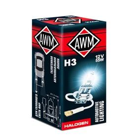 Лампа автомобильная AWM, H3 12V 55 W (PK 22S)