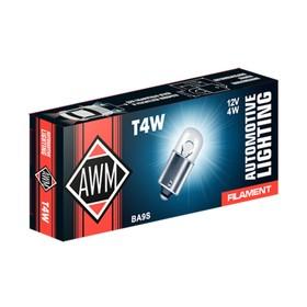 Лампа автомобильная AWM, T4W 12V 4W (BA9S)
