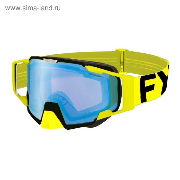 Очки FXR Pilot, взрослые, жёлтый, чёрный
